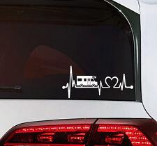 Wohnmobil Camping Bus Wohnwagen Auto Aufkleber Sticker Camper Herzschlag tattoo