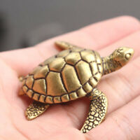 Animal Figurines Desktop Ornament Brass Turtle 3D Home Decor Antique Miniatures