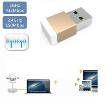 600 Mbps Banda Dual WiFi 5.8GHZ, 2.4GHZ Adaptador De Micro inalámbrico ACN USB Dongle G