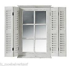 Spiegel Spiegelfenster heinehome weiß klappbare Fensterläden      063325