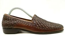 Cole Haan Country Brown Woven Leather Dress Casual Loafers Shoes Women's 9 AA
