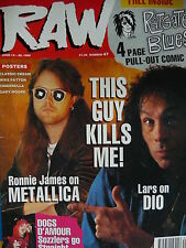 RAW MAGAZINE 47 - METALLICA - DIO - DOGS D'AMOUR - DANZIG
