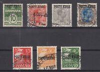 BG5908/ DENMARK – NEWSPAPERS – 1919 / 1930 USED SEMI MODERN LOT – CV 205 $