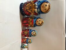 Made in Russia Nesting Dolls Hand Painted Set of 5