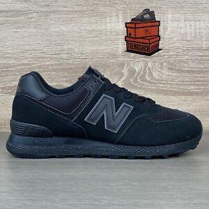 New Balance 574 UK 8.5 Triple Black Lifestyle MT574ATD