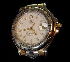 TAG Heuer 6000 Men's Stainless/18K Gold Watch WH1151 Screw Type Only **BONUS**