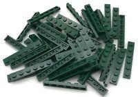 Lego 50 New Dark Green Plates 1 x 6 Dot Building Blocks