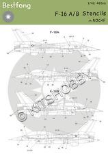 Bestfong Decal 1/48 F-16A/B R.O.C. (Taiwan) AF Stencils