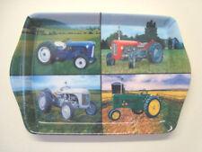 4 Assorted Farm Tractors To A Small Melamine Snack Crumb Tray Leonardo