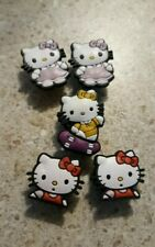 Lot of 5 Hello Kitty shoe charms for Crocs shoes. Other uses Craft, Scrapbook