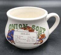 Vintage Onion Soup Mug With Onion Soup Recipe