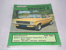 Autodata Car Repair Manual - Escort Mark II 1975-1980