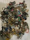 21LB Bulk Whole Lot Estate Costume Loose Scrap Junk Jewelry Necklaces Bracelet b