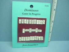 Dollhouse Miniature Dominoes Game 1/12 Scale - Jacquelines Miniatures 1/12th
