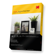More details for kodak premium quality glossy photo paper [inkjet printers] 50 sheets a4 240gsm