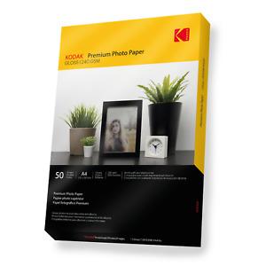 KODAK Premium Quality Glossy Photo Paper [Inkjet Printers] 50 Sheets A4 240gsm