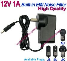 DC 12V 1A Power Supply Adapter EMI Noise Filter for CCTV Security System Camera