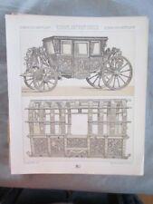 Vintage Print,EUROPE,MAYENS DE TRANSPORT,CARROSE,Costume,Historique,1888,Racinet