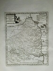 NORTHUMBERLAND Map 1786 Thomas Kitchin - Antique/Original Copper Plate Map  #24