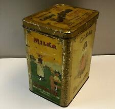Blechdose  Suchard Milka Cacao Nr. 285 Schokolade Werbung um 1910