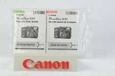 Canon PowerShot G10 Instruction Manual Factory Bundle English Spanish BNC (065)