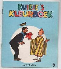 TINTIN. Album à colorier Kuifje's Kleurboek. Casterman 9. Edition 1969.