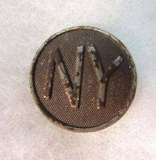WW1 US Army NY (Curved letters) Collar Disc with nut