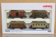 Marklin Märklin 4035 Hamo Preußische Kpev Lokal Personen Coach Set Verpackt NS