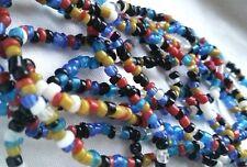 Glasperlen Kette oder langes Armband aquamarin bunte Indianer Perlen Surfer Mode