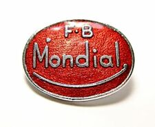 Mondial lapel pin motorcycle scooter Italian hat badge red and chrome F.B.