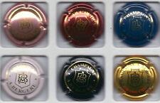 Capsule de champagne serie Bergere A N° 2-3-4-5-6-7
