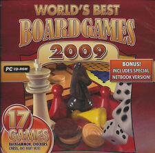 WORLDS BEST BOARD GAMES PC Backgammon, Chess, Etc World's Favorite NEW
