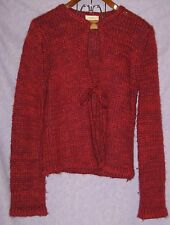 KENJI Natural Mohair Blend Sweater with Bow Tie Thick Tight Weave Very Warm