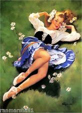 1940s Pin-Up Girl The Peasant Girl Picture Poster Print Art Pin Up