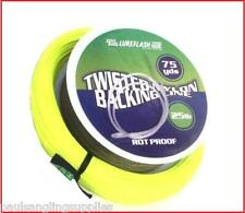 Lureflash Weight Forward Floating Fly Fishing Line Backing & Leader Loop Yellow