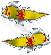 METAL RIP OPEN,RAMPANT LION SCOTTISH FLAG,VAN,TRUCK,CAR,MOTORBIKE,STICKER 150MM