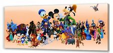 "Disney  Family Characters  Canvas   22""x10""  Framed Picture"