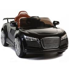 Kids Ride On Car 12V Audi R8 Style Remote Control RC Bright Lights - Black