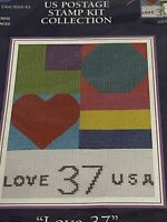 DMC US Postage Stamp Kit Cross Stitch Love New USPS Postal Clerk Carrier
