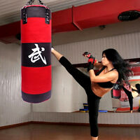 Heavy Boxing Punching Bag with Chains Sparring MMA Boxing Training (Empty)