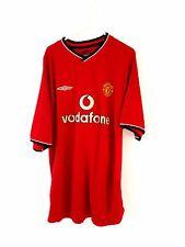 Manchester United Home Camicia 2000. XL. UMBRO. Rosso Adulti Man Utd solo parte superiore.