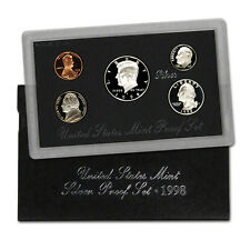 1998 US MINT SILVER PROOF SET - BOX, COA , 5 COINS
