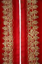 Embroidered Antique Indian Border, Sari Trim, By 1 Yd Decorative Ribbon,  ST1603