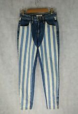 """Guess A$AP Rocky Striped Denim Jeans Size 25 27"""" Waist ASAP"""