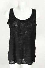 NEXT sheer Black mesh cotton stretch Sequin embellished sleeveless blouse top 12