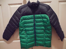 NWT Ralph Lauren POLO Boys Puffer Down Navy Green Coat Jacket Size L (14-16)
