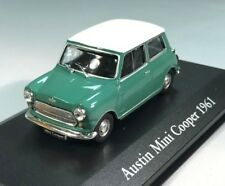 ATLAS 1/43 DIECAST 1961 AUSTIN MINI COOPER GREEN WITH  ROOF (RIGHT HAND DRIVE)
