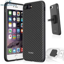 Iphone 7 Plus 8 Plus Case Carbon Fiber Cover + Car Vent Mount Holder By Evutec