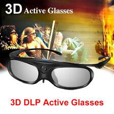 3D Glasses Active Shutter DLP Link Stereo Clip on For Acer DLP Projectors BenQ