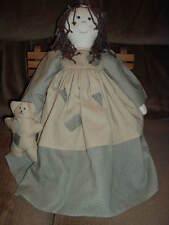 Dreadlocks Braids Doll holding Bear~1558